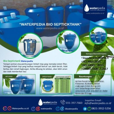 Bio Septictank Waterpedia - Ramah Lingkungan
