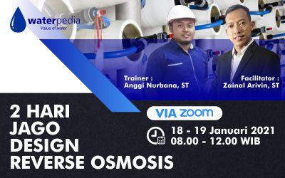 2 Hari Jago Desain Reverse Osmosis Ro Skala Industri (RO) Online Training ZOOM