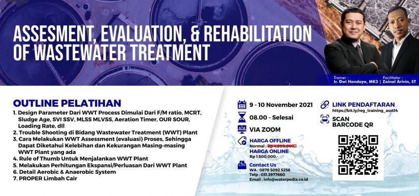 Assessment, Evaluation, & Rehabilitation of Wastewater Treatment : 9 – 10 November 2021